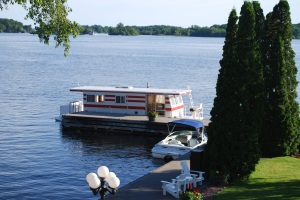 One of the quiet moments on the Great Canadian Houseboat Adventure