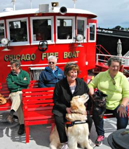 dogs on fireboat