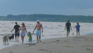 people on Burwell Beach