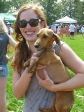 Proud Dachshund Dog Race winner!