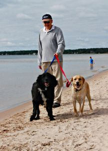 Follow the Red Trail to the dog beach at Whitefish Dunes State Park