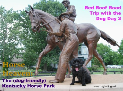 dog-friendly Kentucky Horse Park and scupture