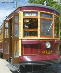 Historic street car at the Halton County Radial Rail Museum