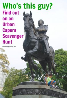 sculpture found on Urban Capers Adventure
