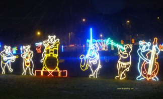 festival of lights at Spencer Smith Park, Burlington, Ontario