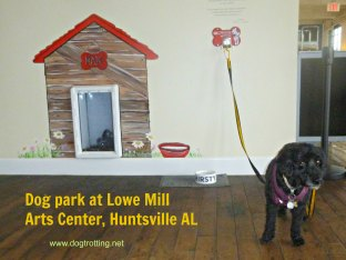 Dog Stop at the Lowe Mill Arts Center, Huntsville, Alabama www.dogtrotting.net