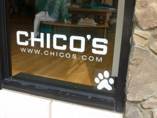 dog-friendly Chico's at Bridge Street Town Center, Huntsville, Alabama
