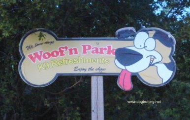 Dog-friendly Starlite Drive-in dog park sign dogtrotting.net