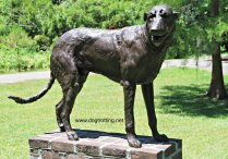 dog sculpture at Brookgreen Gardens Myrtle Beach South Carolina