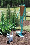 frog and dog sculpture at Brookgreen Gardens Myrtle Beach SC