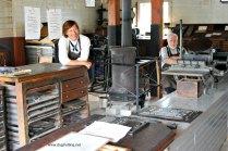 Print shop at Fanshawe Pioneer Village, London, Ontario www.dogtrotting.net