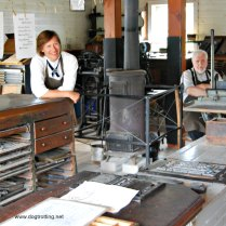 Print shop at Fanshawe Pioneer Village, London, Ontario www.dogtrotting.net