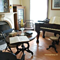 Piano parlour at Fanshawe Pioneer Village, London, Ontario www.dogtrotting.net