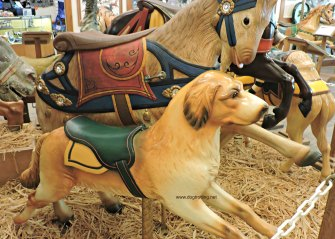 Carousel dog at Knoebels Dog-friendly amusement park