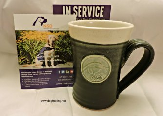 National Service Dog mugs from Pavlo Pottery dogtrotting.net