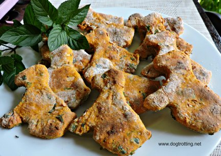 dog pumpkin and mint cookies