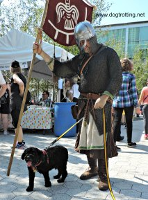 ROM Viking with dog at Word on the Street, Toronto