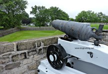 Canon at dog-friendly Fort Wellington, Prescott, Ontario