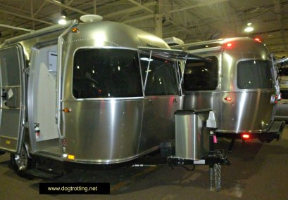 Airstream at the RV show dogtrotting.net