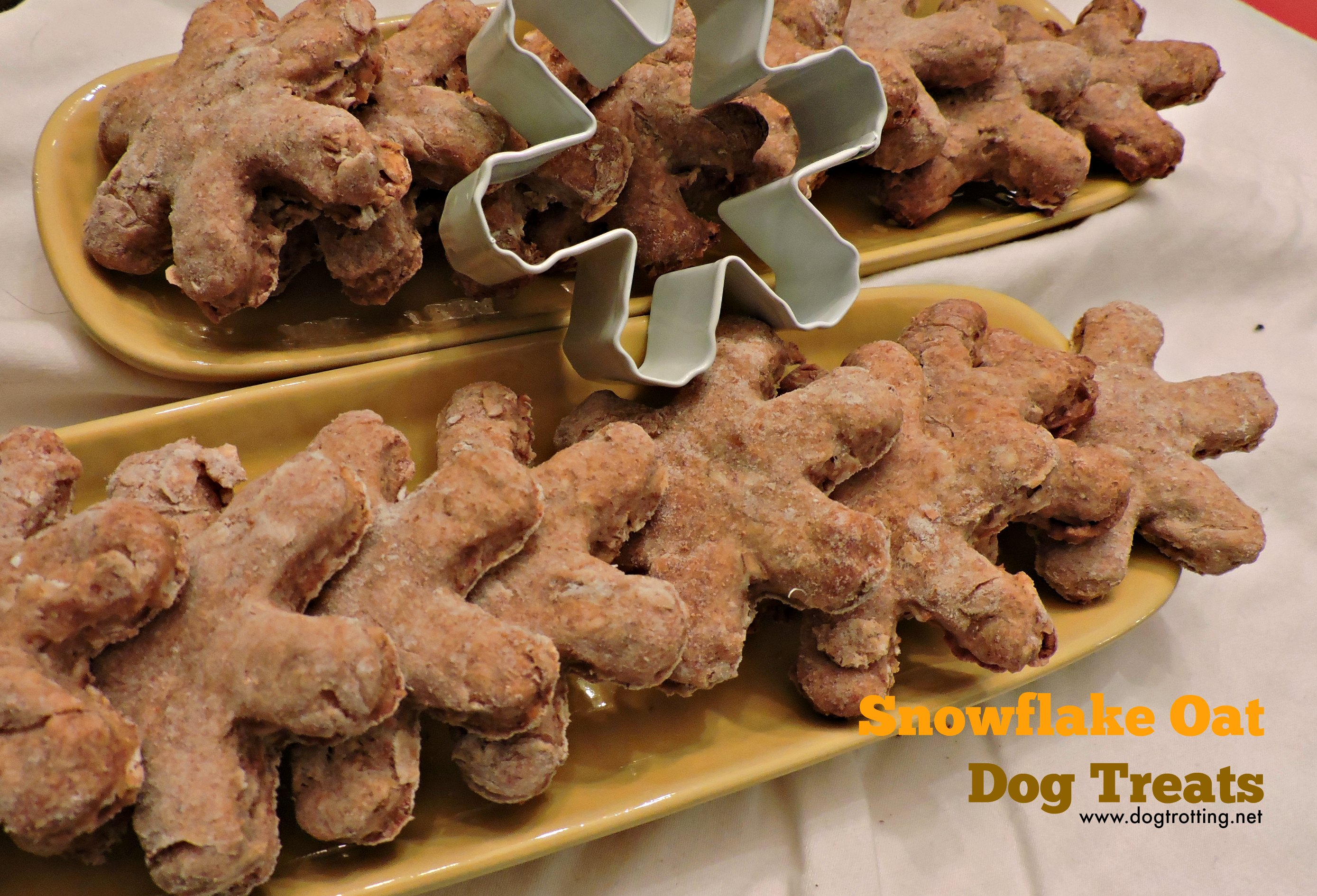 Pup Treats Day 3: Snowflake Oat and Peanut Butter Dog Snacks