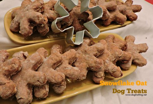 snowflake oat dog treats