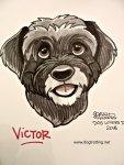 dog caricature image