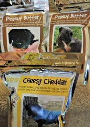 dog treat labels