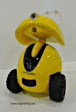 yellow ipet robot to monitor pets