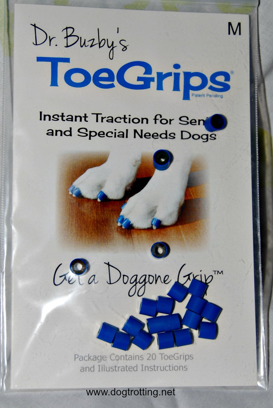 Solutions for Aging Dog Mobility Issues Part #2: Toe Grips. Yes, Toes.