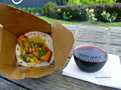 gourmet taco and wine