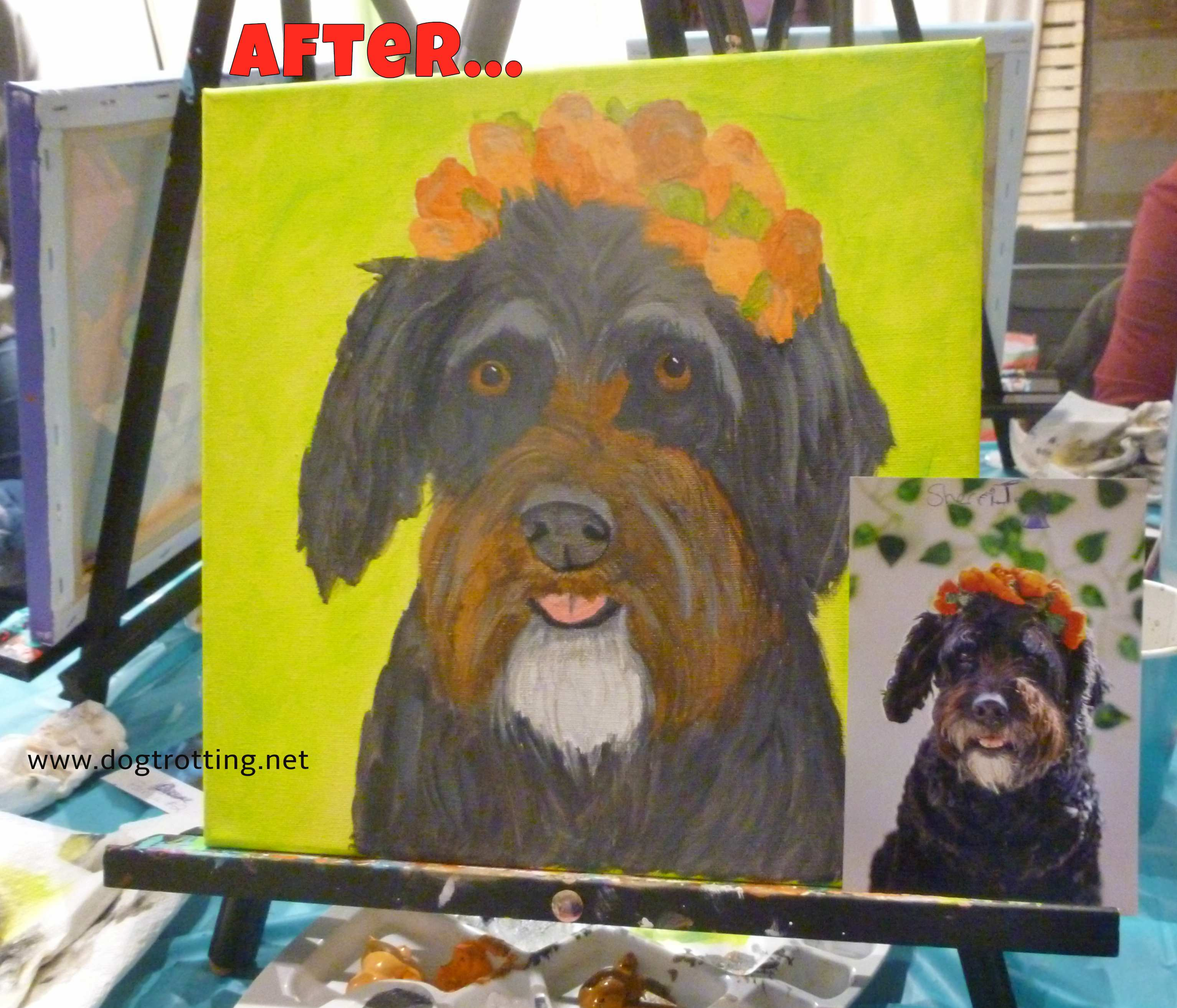 Happy New Year! Paint Your Own Pet … for the dogs of Colombia