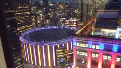Madison Square Gardens at night