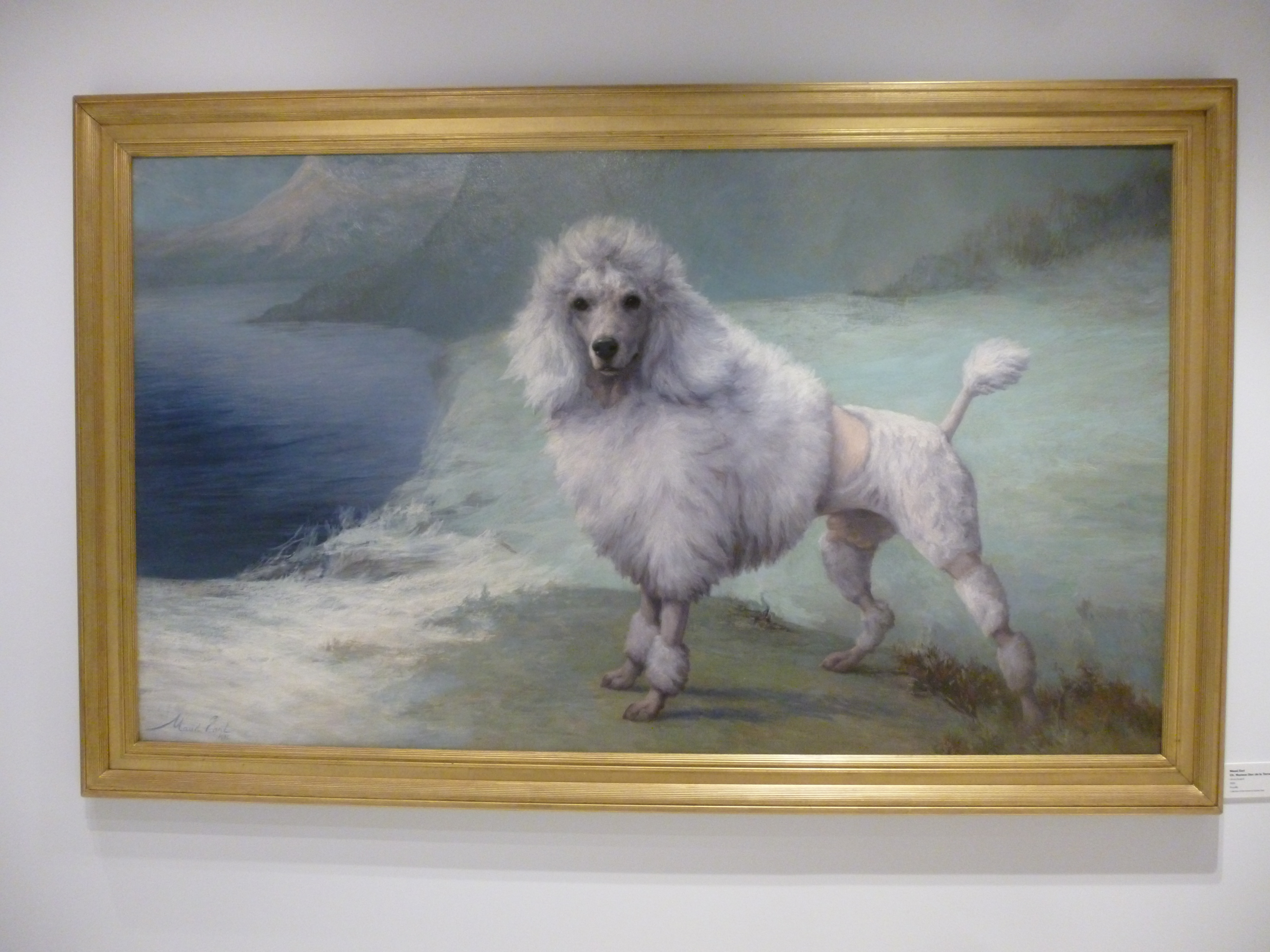 dog art at the AKC Museum of the Dog NYC www.dogtrotting.net