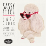 hoe-sassy-bitch-cider-label-wrap