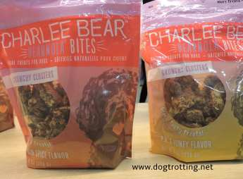 Two bags of Charlee Bear dog treat bites