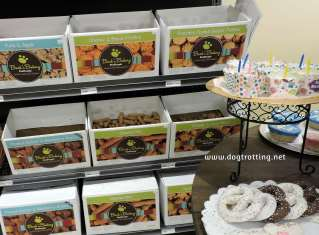 boxes of Bark and Bakery dog treats in Michigan store