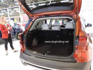 back of Kia car at auto show