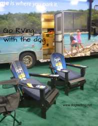 rv camping with the dog