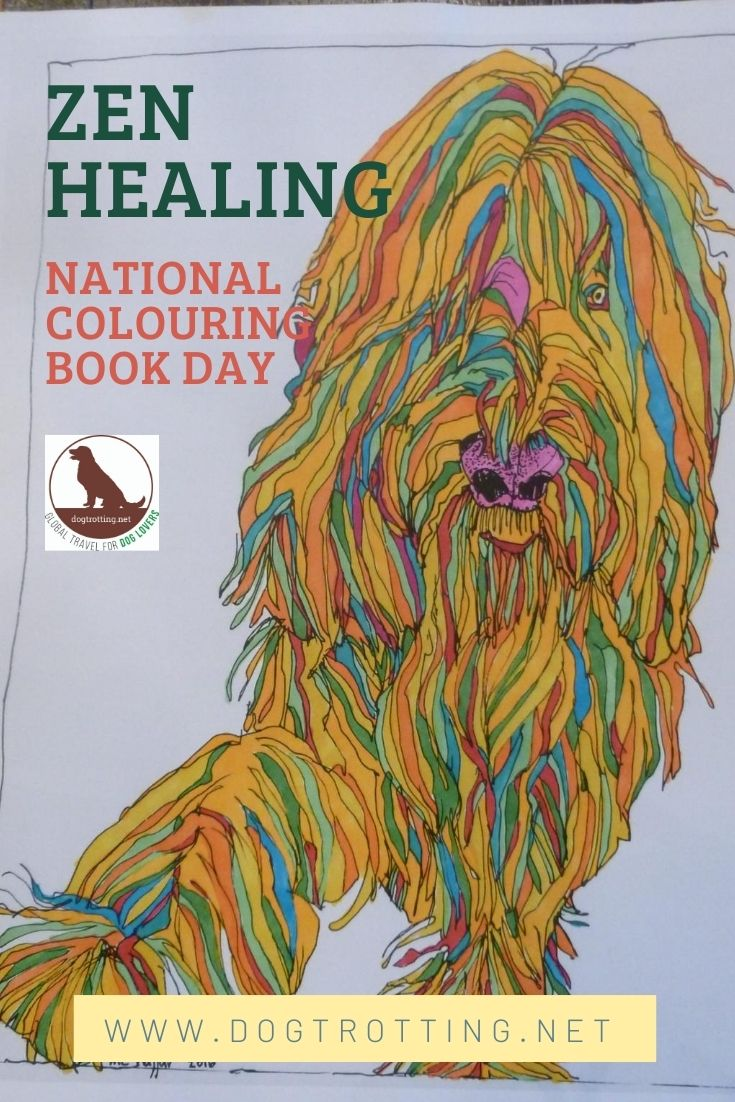 Colour Therapy After Dog Loss & National Colouring Book Day.